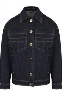 Джинсовая куртка с контрастной прострочкой Versace