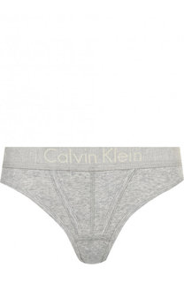 Хлопковые трусы-стринги с логотипом бренда Calvin Klein Underwear