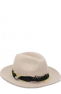 Шерстяная шляпа с отделкой пером Zadig&Voltaire Zadig&Voltaire