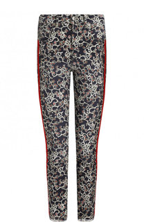 Укороченные джинсы с принтом и лампасами Isabel Marant Etoile