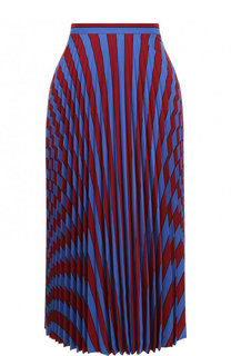 Плиссированная юбка-миди с принтом Maison Margiela