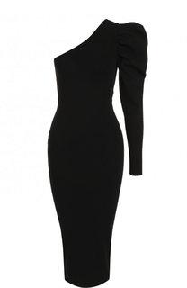 Однотонное платье асимметричного кроя из вискозы Stella McCartney