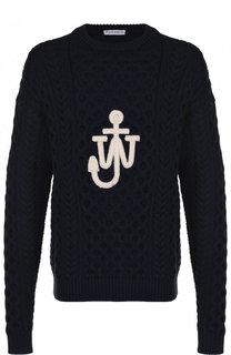 Хлопковый свитер фактурной вязки J.W. Anderson