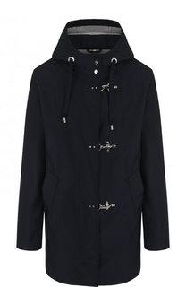 Однотонное укороченное пальто с капюшоном Fay