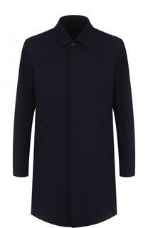Однотонное шерстяное пальто Ermenegildo Zegna