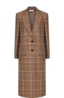 Пальто свободного кроя из смеси хлопка и льна Dries Van Noten