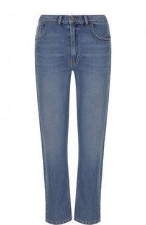 Укороченные джинсы прямого кроя с потертостями Kenzo