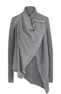 Однотонная хлопковая куртка асимметричного кроя Roque