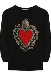 Шерстяной пуловер с принтом Dolce & Gabbana