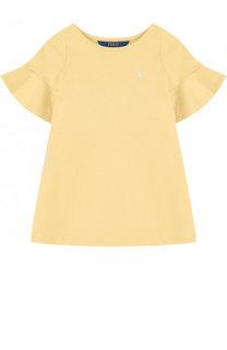 Хлопковое мини-платье А-силуэта Polo Ralph Lauren