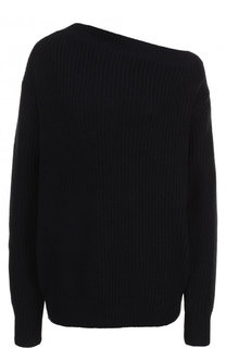 Однотонный пуловер из смеси хлопка и акрила Dries Van Noten