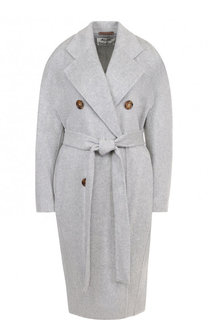 Пальто из смеси шерсти и кашемира с поясом Acne Studios