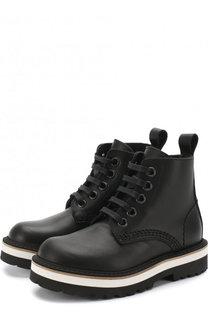Кожаные ботинки на контрастной подошве Dsquared2