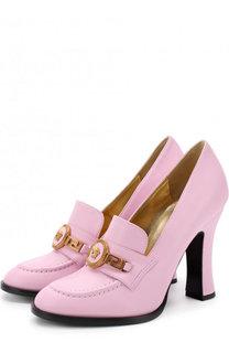 Кожаные туфли Tribute на устойчивом каблуке Versace