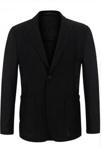 Однобортный пиджак с остроконечными лацканами Giorgio Armani