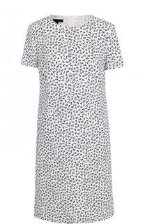 Мини-платье свободного кроя с принтом Escada