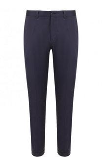 Хлопковые укороченные брюки прямого кроя Dolce & Gabbana