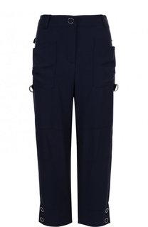 Укороченные однотонные брюки с карманами Giorgio Armani