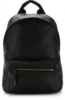 Кожаный рюкзак с двумя отделениями на молнии Lanvin
