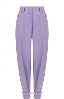 Зауженные однотонные брюки из льна Hillier Bartley