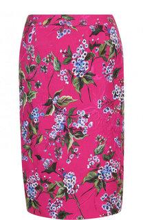 Юбка-миди с цветочным принтом Escada