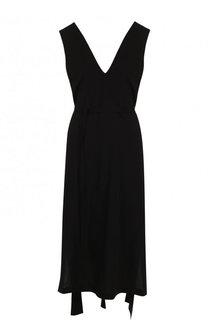 Приталенное платье-миди с V-образным вырезом Isabel Benenato