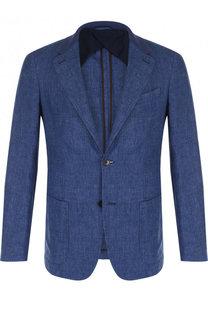 Однобортный льняной пиджак Ermenegildo Zegna