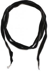 Шелковый шарф с металлической отделкой Saint Laurent
