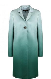 Пальто прямого кроя с эффектом деграде Escada
