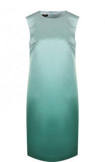 Мини-платье с круглым вырезом и эффектом деграде Escada