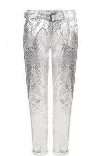 Укороченные брюки из смеси хлопка и льна Tom Ford