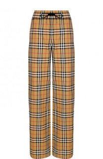 Хлопковые брюки в клетку с эластичным поясом Burberry