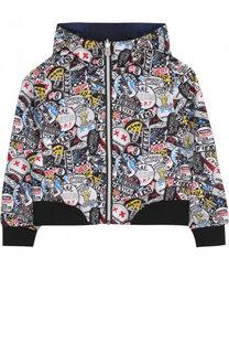 Двусторонняя ветровка с капюшоном Marc Jacobs