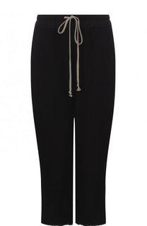 Однотонные укороченные брюки из шелка Rick Owens