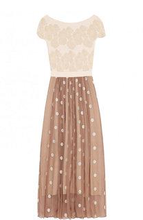 Приталенное платье-макси с вырезом-лодочка D.Exterior