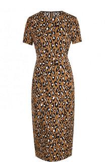 Приталенное платье-миди с завышенной талией и принтом Diane Von Furstenberg