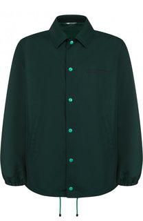 Куртка на кнопках с принтом на спине Valentino