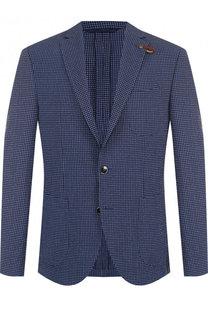 Однобортный пиджак из смеси шерсти и шелка Baldessarini