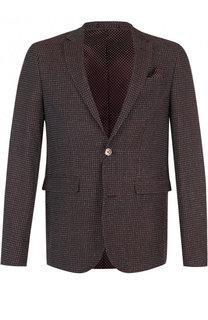 Однобортный пиджак из смеси шерсти и хлопка Sand