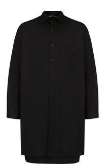 Удлиненная хлопковая рубашка асимметричного кроя Y-3