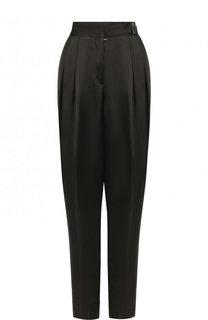 Однотонные брюки из вискозы с защипами Forte_forte