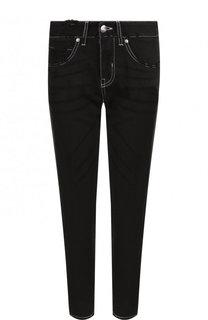 Укороченные зауженные джинсы с лампасами Two Women In The World