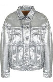 Укороченная джинсовая куртка свободного кроя Acne Studios