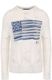 Хлопковый пуловер фактурной вязки Polo Ralph Lauren