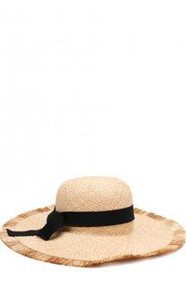 Соломенная шляпа с лентой Emporio Armani