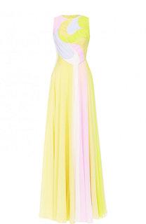 Шелковое платье-макси с драпировкой Emilio Pucci