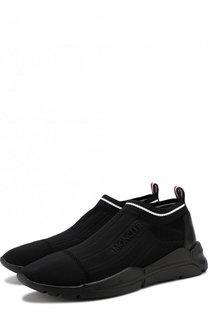 Текстильные кроссовки без шнуровки Moncler