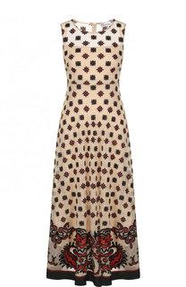 Приталенное платье-миди без рукавов REDVALENTINO