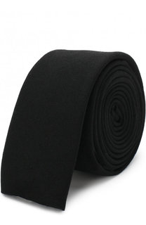 Шерстяной галстук с вышивкой Yohji Yamamoto