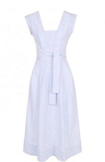 Приталенное платье-миди в полоску Tara Jarmon